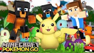 Minecraft - Donut the Dog Adventures -POKEMON GO - BABIES TRY TO CATCH POKEMON!!!!