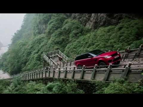 OMG! Range Rover Climb 999 Steps to Heaven's Gate
