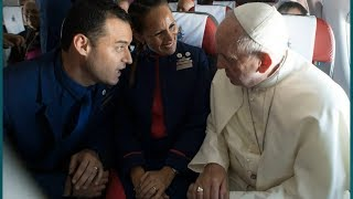 Pope Francis marries couple in the skies during a flight | ITV News