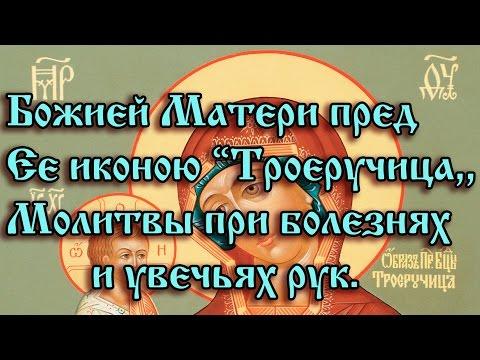 """41.Божией Матери пред Ее иконою """"Троеручица"""".  Молитвы при болезнях и увечьях рук."""
