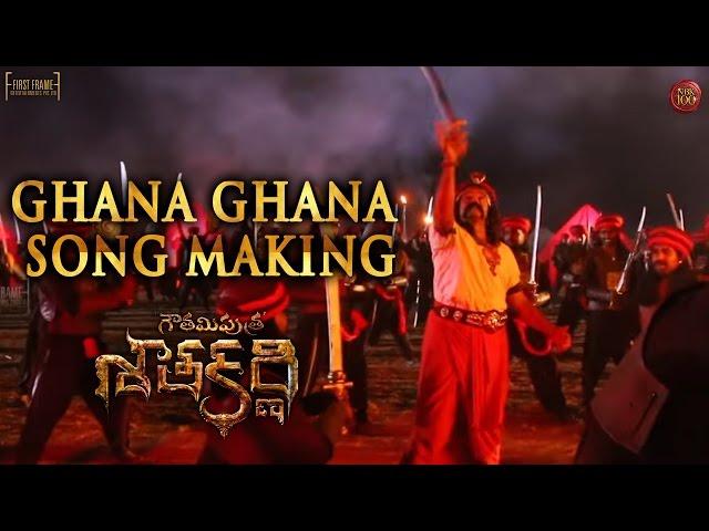 Ghana Ghana Song Making | Gautamiputra Satakarni Movie Songs | Krish