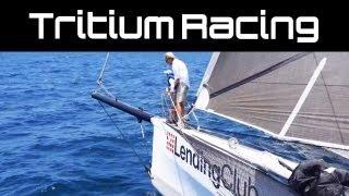 Tritium Lending Club : Sailing at 25 knots on a race trimaran