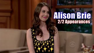 Alison Brie - Is Giving Craig Ferguson A Hard Time - 2/2 Appearances In Chron. Order [1080]