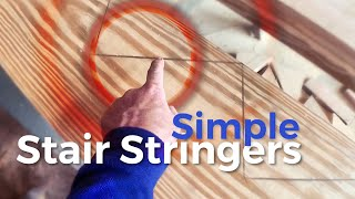 How to Build Stairs | A simple way to mark and cut stringers
