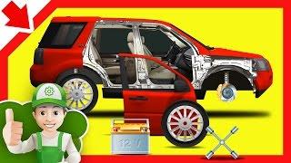 Car for children cartoon. Handy Andy repair your car for children, Cartoon about cars