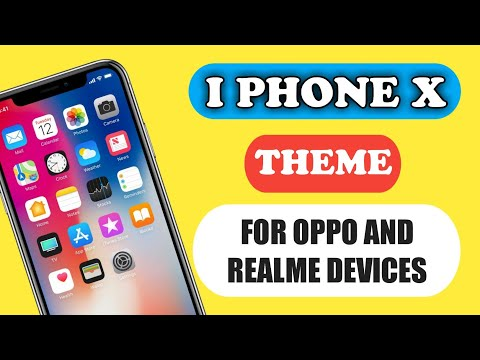 Oppo Coloros iphone ios xS theme for oppo a3s , F5 , F7 , F9