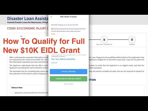 How To Qualify for Full New $10K EIDL Grant