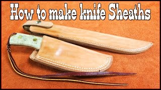 Leathercraft - How to make knife sheaths - Part 1 - Leather Working - Knife Holster Making - DIY