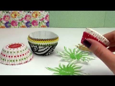 Deko Weihnachten Stern aus Muffin Formen / Förmchen / DIY Muffinsterne selbst gestalten | deutsch