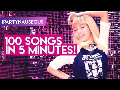 MY TOP 100 K-POP SONGS IN 5 MINUTES!