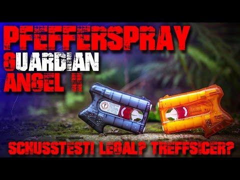 Schusstest - Guardian Angle 2 II Piexon Test - Pfefferspray Pistole Review - Selbtverteidigung