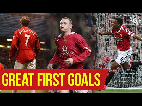 Great First Goals | Cristiano Ronaldo Wayne Rooney Anthony Martial Amad | Manchester United