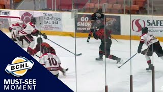 Must See Moment: Connor Sweeney wins the game for the Smoke Eaters with a late goal