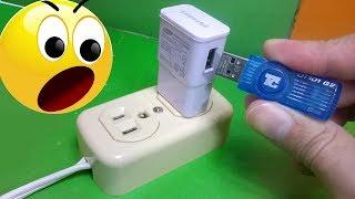 Mira que pasa si conecto una memoria USB a un cargador de celular? Experimento casero