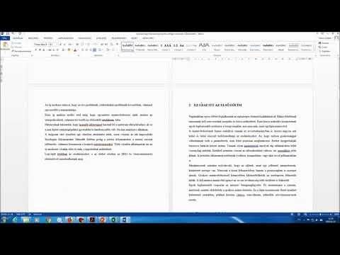 OKTATÁS 05. Szakdolgozat formázás - Címek számozása letöltés