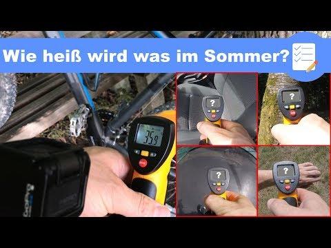 Wie heiß ist was ??? Kontaktlos Temperatur messen mit Infrarot Thermometer - Test deutsch