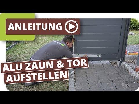 Aluminium Sichtschutzzaun mit Gartentor aufbauen