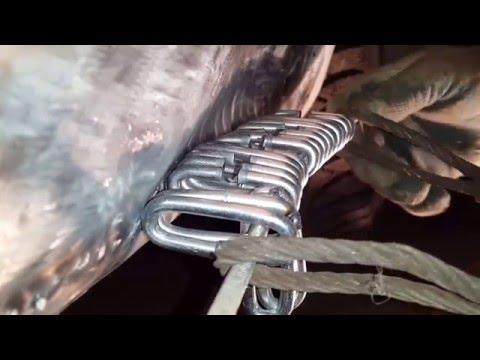 замял порог об бордюр, ремонт своими руками...