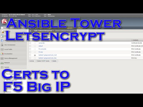 Using Ansible To Create DNS Certificates And Install Them On F5 Big IP Loadbalancers