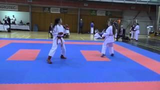 preview picture of video '20150301 - 1 kolo NP ČSKGr 2015 - Hustopeče - Kumite - Navrátilová - 01'