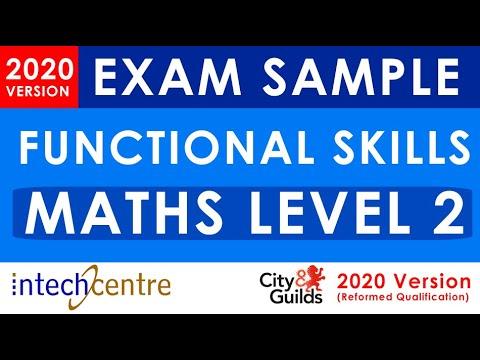Functional Skills MATHS Level 2 Exam Sample (City & Guilds Reformed Exam 2020)