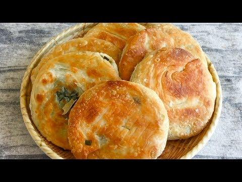 破解上海阿大葱油饼,不用加猪油,饼皮酥脆葱香浓郁,好吃又解馋 【三丰美食】