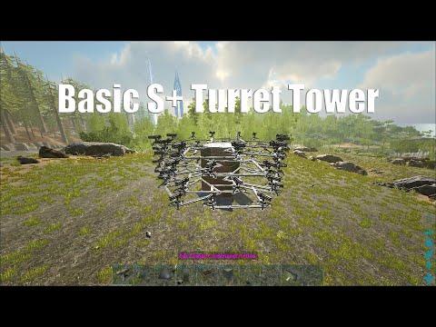 ARK] S+ TURRET TOWER DESIGNS SUPER EASY- ark survival