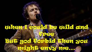 Damien Rice - The Box/Wild and free (Lyrics)