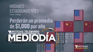 Familias en EEUU perderán gran parte de su dinero por aranceles a China | Noticias Telemundo