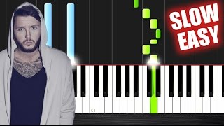 James Arthur - Say You Won't Let Go - SLOW EASY Piano Tutorial by PlutaX