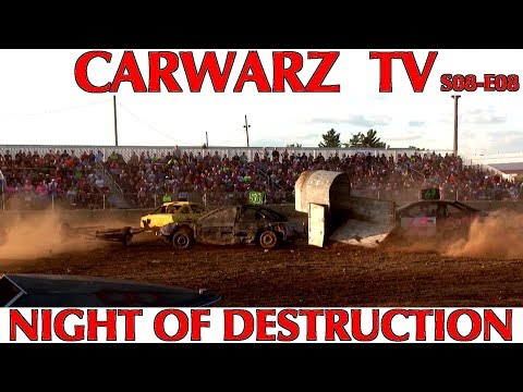 CARWARZ TV - S8E08 - Night Of Destruction At Eastern Michigan Fair 2018