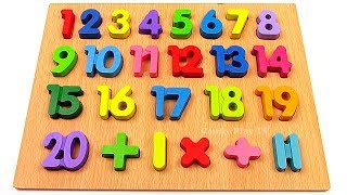 Learn To Count with Wooden Toys Numbers  | 20 to 1 | Learn Numbers from 1 to 20 for Children