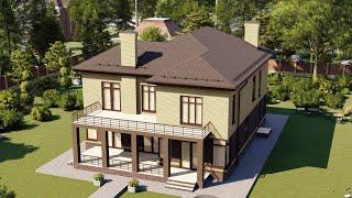 Проект дома 336-A, Площадь дома: 336 м2, Размер дома:  13,2x18,5 м