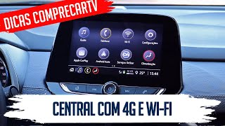 Central Multimídia Chevrolet com internet 4G e Wif