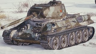 World of Tanks T-34-85M - 9 Kills 4,8K Damage (1 VS 5)