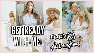 GET READY WITH ME! INSIDE OUR MATERNITY PHOTOSHOOT | OLIVIA ZAPO