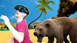STAY ALIVE IN THE MOST DANGEROUS VR SURVIVAL GAME! - Castaway VR HTC VIVE Gameplay
