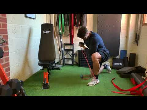 Kneeling Concentration Curl with Resistance Band