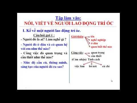 TẬP LÀM VĂN 3: NÓI, VIẾT VỀ NGƯỜI LAO ĐỘNG