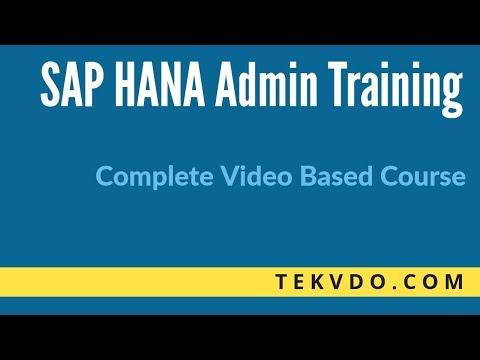 SAP HANA Admin Training - Step by Step SAP HANA Installation - Complete Course