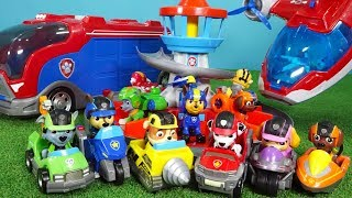PAW PATROL HEADQUARTER HQ LOOKOUT TOWER, MISSION PAW MISSION CRUISER, AIR PATROLLER