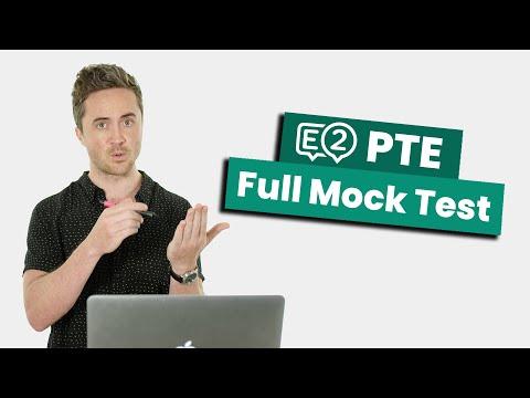 PTE Full Mock Test - YouTube