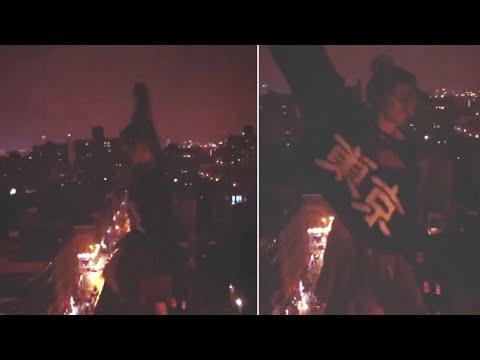 Paris Jackson Dances Dangerous Close to Skyscraper Ledge