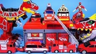Fire station cars Robocar Poli Tayo car key toys and more