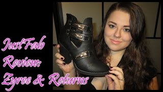|| JustFab Review: Zyree & Returns ||