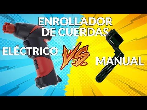 Enrollador de cuerdas eléctrico vs. manual - 2 pruebas