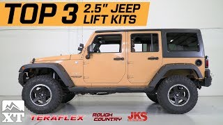 The 3 Best Jeep Wrangler 2.5 Lift Kits For 2007-2017 JK Unlimited Rubicon Sahara Sport