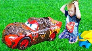 Makar and Disney Cars Lightning McQueen Car Wash