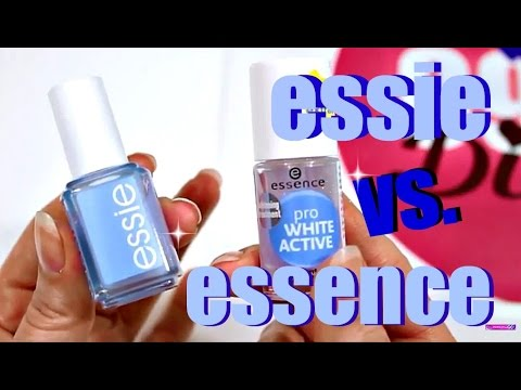 essie brilliant service! vs. essence pro White Active im Test | 9999 Dinge