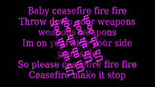 Cease fire christina aguilera lyrics